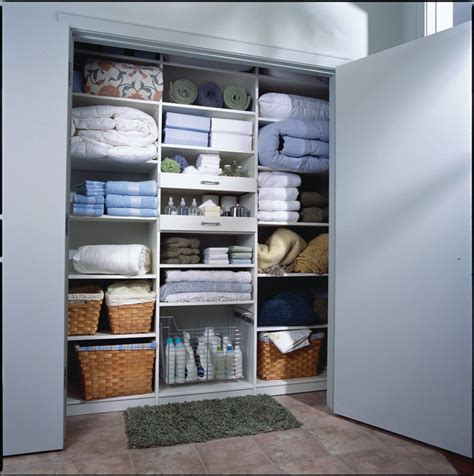 Bathroom Closet Shelving Reach In Linen Closet Contemporary Closet New York