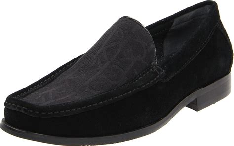 klein loafers calvin klein mens neil loafer in black for lyst