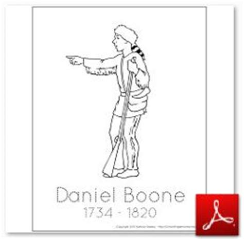 Early American History Assembling The Student History Daniel Boone Coloring Pages