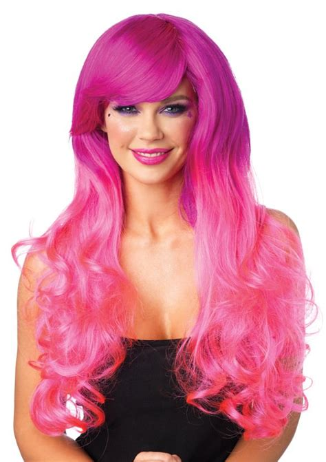 Pinkcoco Wig 2 cambria curly pink two tone wig womens fancy dress costume wigs