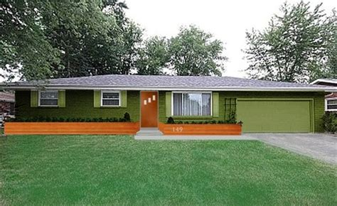 Garage Style Homes by Exterior Update Help 1960 S Yellow Brick Ranch