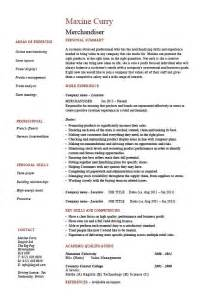 merchandiser resume exle sle visual marketing