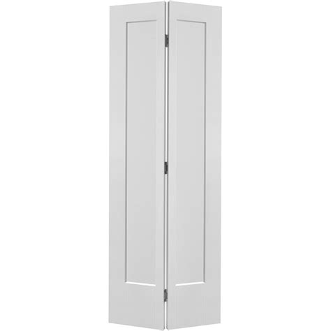 36 Inch Bifold Closet Doors Masonite 36 In X 80 In Lincoln Park 2 Panel Primed White Hollow Composite Bi Fold Door