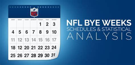 printable nfl schedule with bye weeks 2017 nfl bye weeks schedules statistical analysis