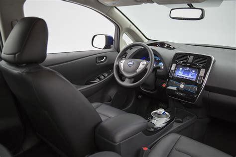 nissan leaf interior 2016 nissan leaf 107 epa range specs pricing