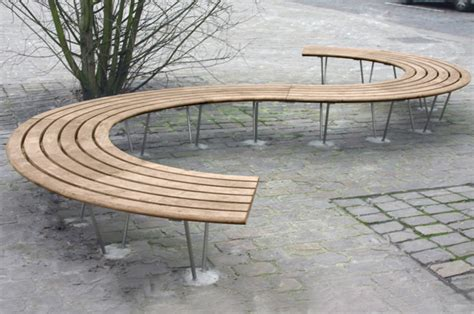 curved wooden bench curved wooden bench sinu 72 176 by factory street furniture