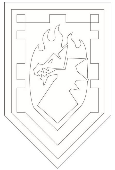 coloring pages knights shields kids n fun com 29 coloring pages of lego nexo knights
