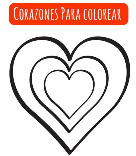 imagenes para colorear de corazones corazones para colorear manualidades