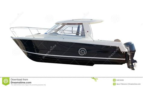 motor boat z side view of motor boat isolated over white stock photo