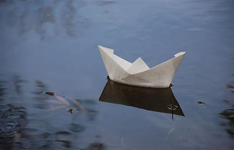Paper Boats That Float - a paper boat floats in orta lake italy so glad to see