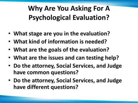 psychological evaluation ppt psychological and parental competency evaluations