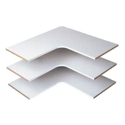 White Corner Shelf by Martha Stewart Living 30 In Classic White Corner Shelf 3
