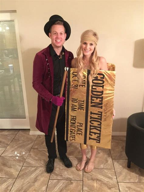 willy wonka   golden ticket couples costumes