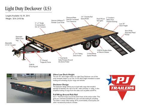 light duty gooseneck trailer pj trailers light duty deckover 5 quot channel l5