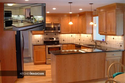 kitchen cabinet refinishing before and after kitchen refacing before and after