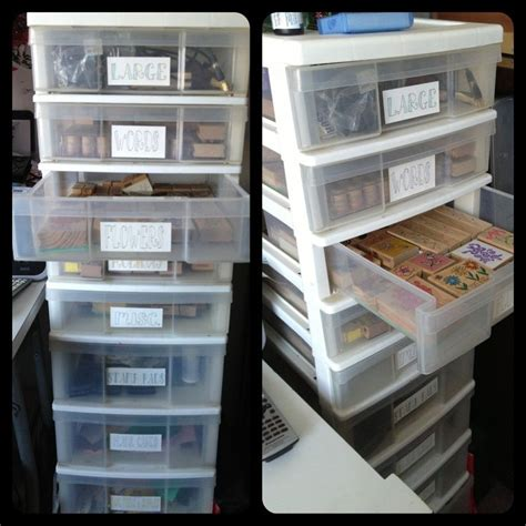 storage ideas for rubber sts 184 best craft room organization sts images on