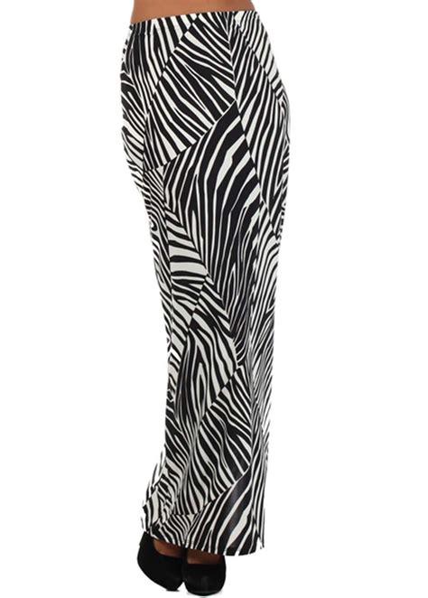 White Black Maxi black white maxi slit skirt modli
