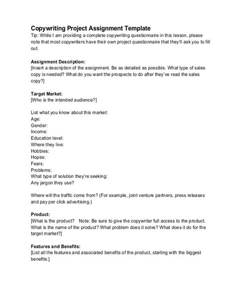 project assignment template word documents