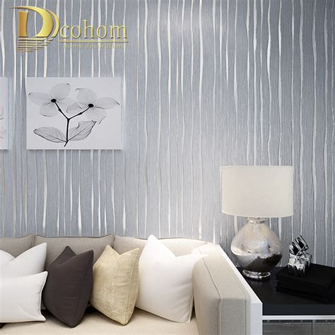 d patches on walls in bedroom simple gold beige pink grey modern striped wallpaper for