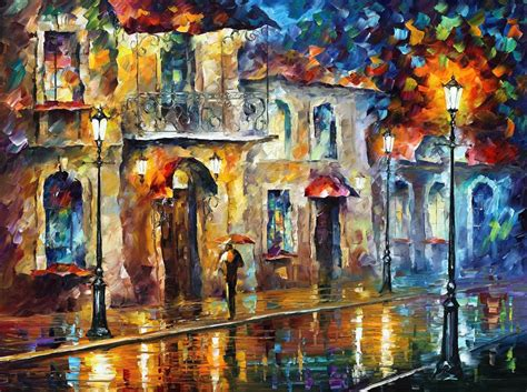 Promo Figure Animal Medium 01 umbrella palette knife painting on canvas by