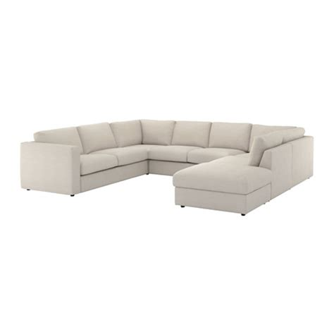 us open sectionals vimle sectional 6 seat with open end gunnared beige ikea