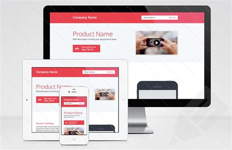 free html product page template 50 best free html5 website templates preview