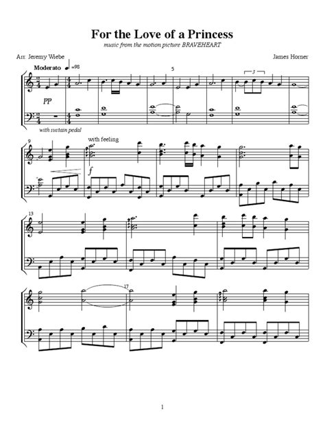 tutorial piano braveheart this is my arrangement for piano of quot for the love of a