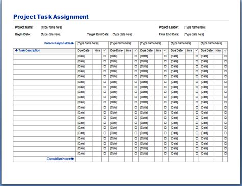free project management task list template task spreadsheet example