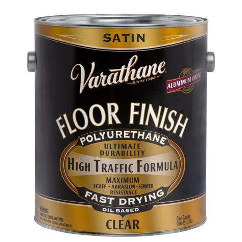 1 gal clear satin water based polyurethane for floors varathane 1 gal floor finish clear satin based