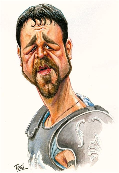 film gladiator cartoon russell crowe as maximus from the movie quot gladiator