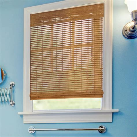 home decorators collection 22 in 40 in l 7 16 in home decorators collection honey bamboo weave roman shade
