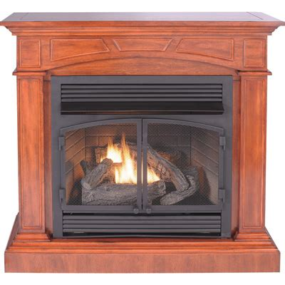 Procom Dual Fuel Vent Free Fireplace With Corner Gas Fireplace Kit