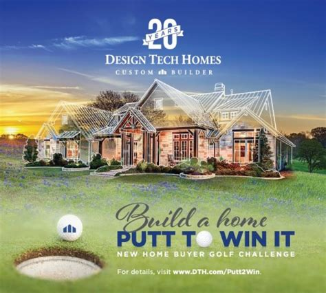 design tech homes kicks build a home putt to win it