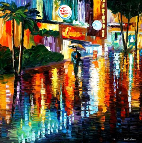 Miami Palette Knife Painting On Canvas By