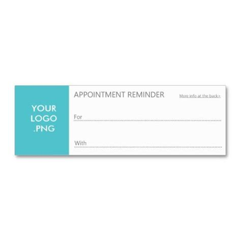 Appointment Reminder Business Card Template by 63 Best Appointment Business Cards Images On