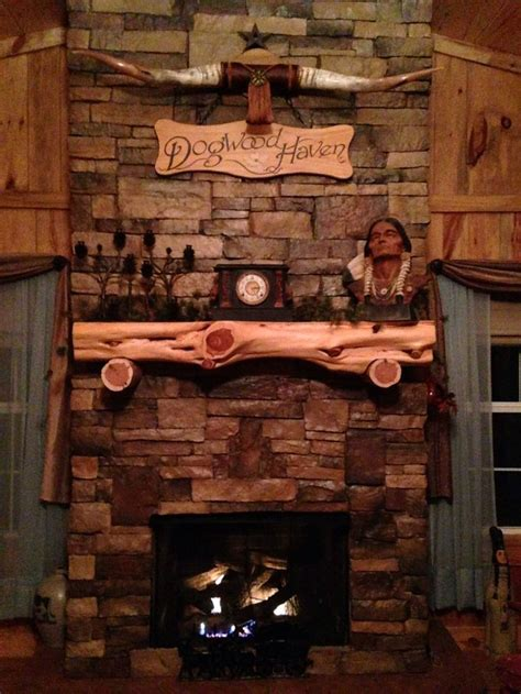 fireplace with cedar log mantel log furniture