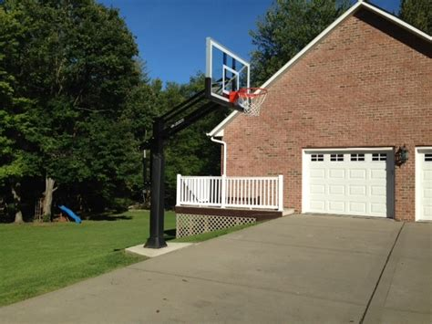 Landscape Supply Butler Pa David S S Pro Dunk Gold Basketball System On A 40x30 In