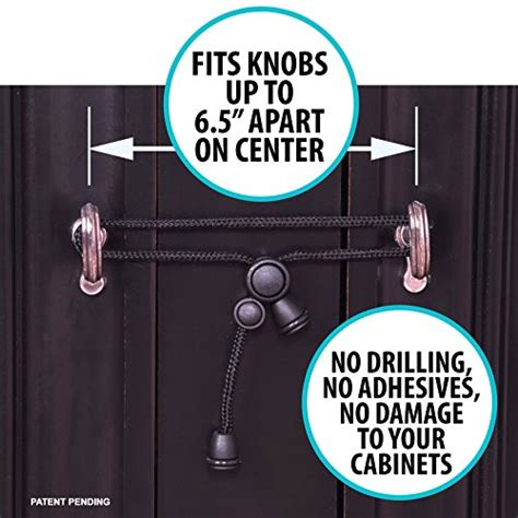 no drill cabinet knobs kiscords baby safety cabinet locks for knobs child safety