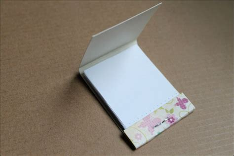 Handmade Notepads - two ways to make a notebook loulou downtown