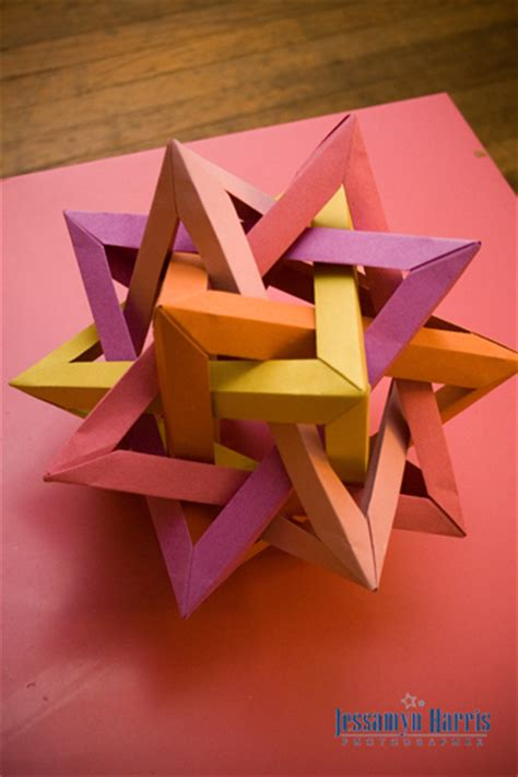 Cool Things To Make Out Of Construction Paper - 3 dimensional tetral dodecahedron jessamyn harris