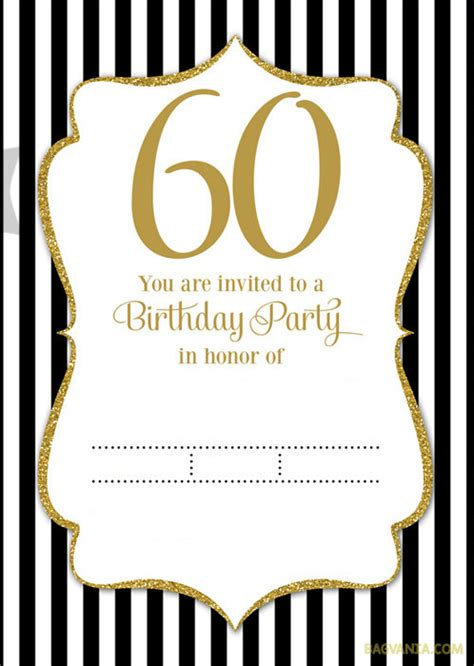 60th birthday invitation card templates free free printable 60th birthday invitation templates free