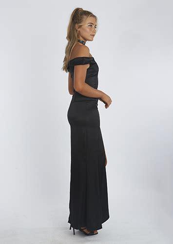 ruby dress ori by shofiya sofia the label ruby gown in black perth dress hire my