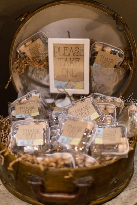 travel themed bridal shower world ideas - Bridal Shower Travel Themed Favors