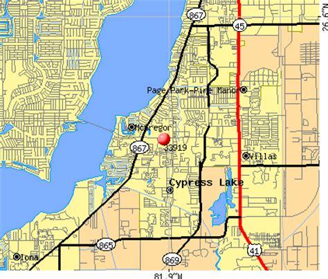 zip code map fort myers 33919 zip code mcgregor florida profile homes