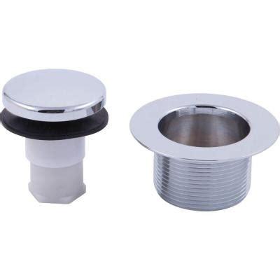 delta 1 3 8 in brass toe operated tub drain in chrome