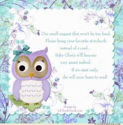 flower owl baby shower invitation garden crisp floral purple