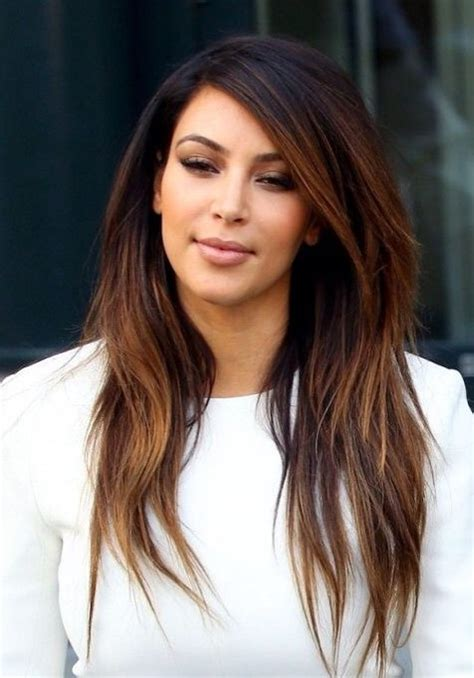 hairstyles and colors for long hair 2013 kim kardashian long hairstyles ombre hairstyles for