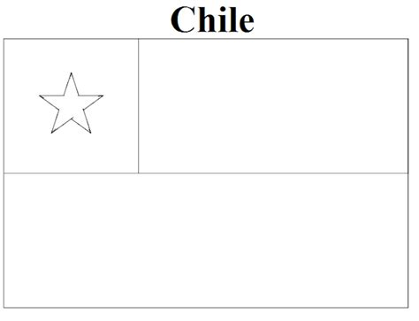 Chile Flag Coloring Page geography chile flag coloring page
