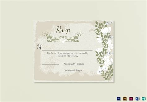 masquerade rsvp cards microsoft publisher template vintage wedding rsvp card template in psd word publisher