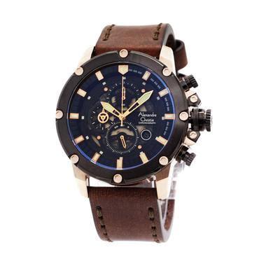 alexandre christie ac8344 jam tangan pria hitam kulit update daftar harga terbaru indonesia